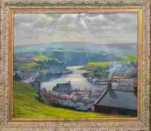 View Of Whitby, Yorkshire Oil Painting
