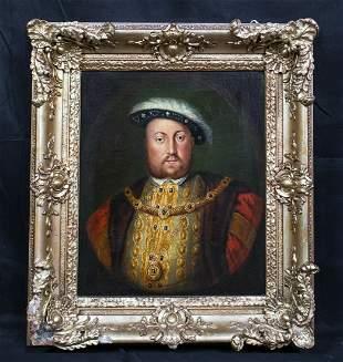 Portrait Of King Henry VIII (1491-1447) Oil Painting
