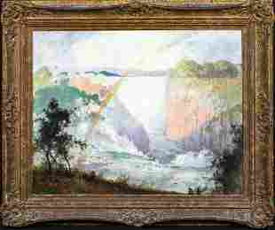 Victoria Falls South Africa Waterfall Oil Painting