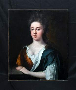 Portrait Of Sarah Woolryche, Wife of J Hewley