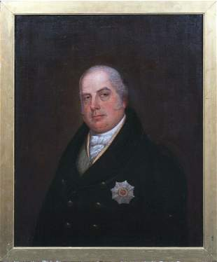 Portrait Of King William IV Duke Of Clarence Oil