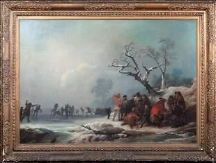 Frozen Winter Landscape Oil Painting