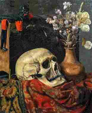 Memento Mori Vanitas Oil Painting