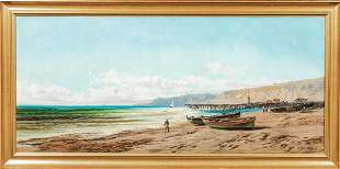 Coastal Beach Landscape Oil Painting