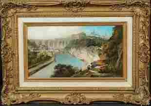 View Morlaix Brittany Oil Painting