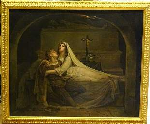 The Death Of Romeo & Juliet Oil Painting