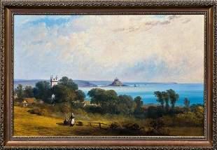 View Of St Michaels Mount Landscape Oil Painting