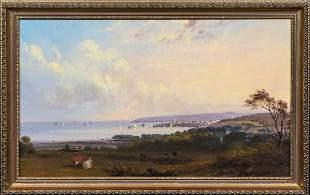 View Of Penzance Port Landscape Oil Painting