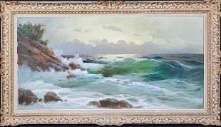 Seascape Waves Beach Oil Painting