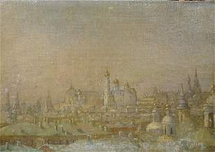 View Of The Kremlin Moscow Oil Painting