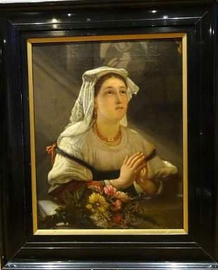 Portrait Of A Nun Oil Painting
