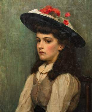 Newlyn School Girl Portrait Oil Painting