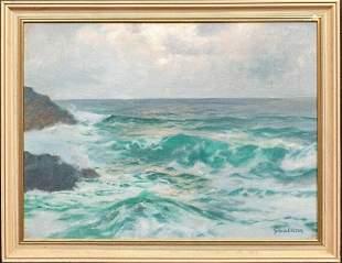 Coastal Seascape Oil Painting