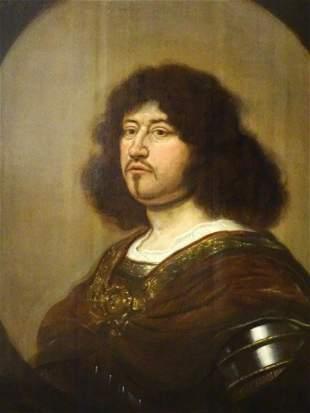 Portrait Gentleman In Armour Oil Painting