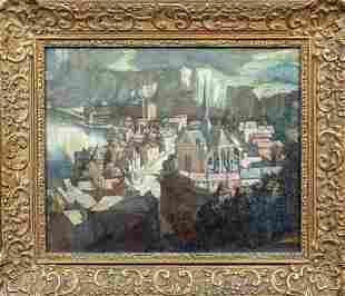 Chateau Gaillard Oil Painting