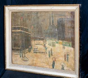 5th Avenue Library Oil Painting