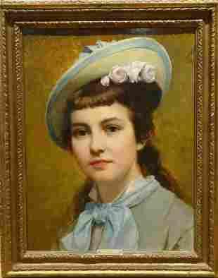 """Girl Portrait """"Olga"""" Oil Painting"""
