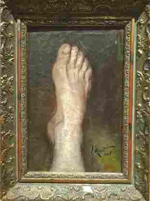 Still Life Limb Foot Study Oil Painting