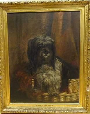 Tibetan Terrier Dog Portrait Oil Painting