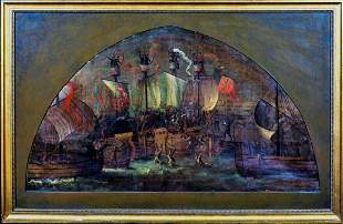 he Battle Of Sluys 1340 Hundred Years War Oil Painting