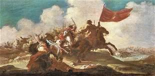 Battle War Landscape Cavalry Painting Oil Painting