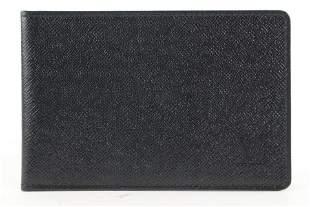 Louis Vuitton Black Leather Card Holder Wallet Case
