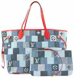 Louis Vuitton Denim Patchwork Monogram Neverfull MM