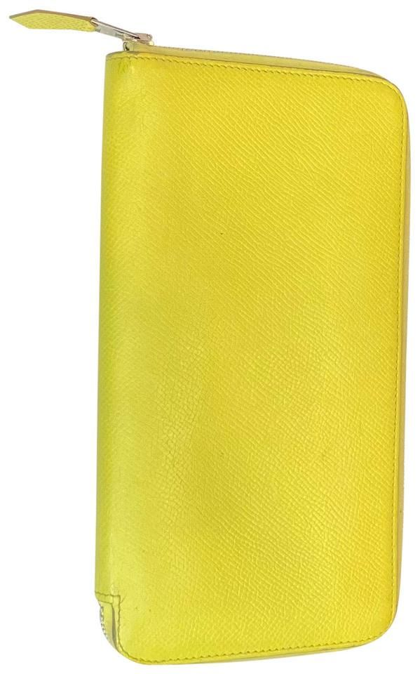Hermes Yellow Epsom Leather Silk'In Classique Long