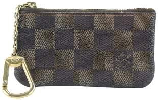 Louis Vuitton Damier Ebene Coin Pouch Porte Cles