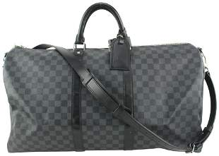 Louis Vuitton Damier Graphite Keepall Bandouliere 55