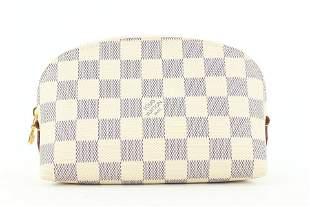 Louis Vuitton Damier Azur Comsetic Pouch Demi Ronde