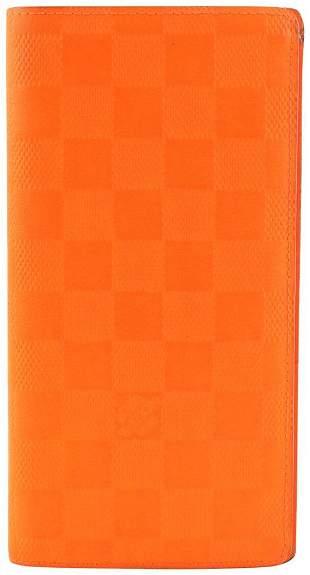 Louis Vuitton Magma Orange Damier Infini Leather Brazza