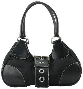 Prada Black Belted Shoulder Bag