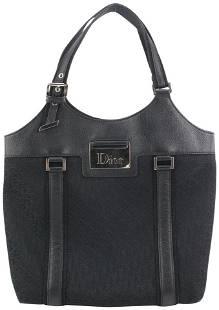 Dior Black Monogram Trotter Street Chic Tote