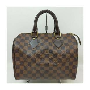 Louis Vuitton Damier Ebene Speedy 25 Boston Bag