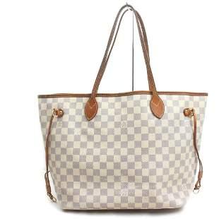 Louis Vuitton Damier Azur Neverfull MM Tote Bag