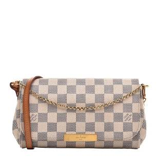 Louis Vuitton Damier Azur Favorite 2way Crossbody Bag