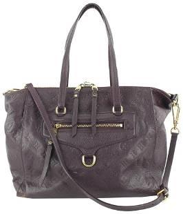 Louis Vuitton Aube Purple Monogram Empreinte Leather