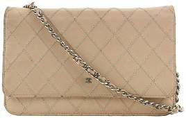 Chanel Pink Quilted Whip Stitch Wallet On Chain Classic