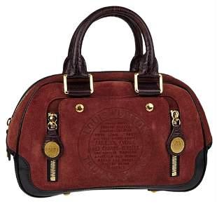 Louis Vuitton Havane Brown Suede Stamped Trunk PM
