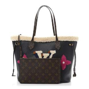 Louis Vuitton Monogram Teddy Neverfull MM Tote Bag With