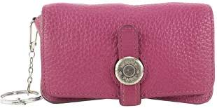 Hermes Pink Leather Keychain Coin Pouch