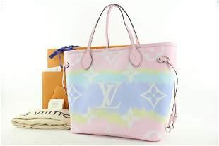 Louis Vuitton Monogram Escale Pink Tye Dye Neverfull MM