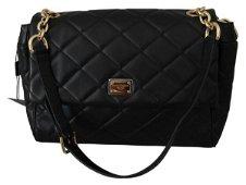 Black Quilted Shoulder Women Hand Purse Leather Bag