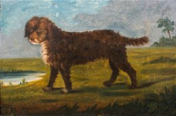 Portuguese Water Spaniel Oil Painting