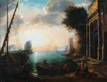 Harbour Landscape Oil Painting