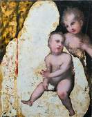 Madonna, Child & Infant Oil Painting