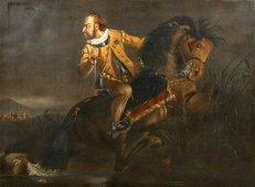 Civil War Royalist Oil Painting