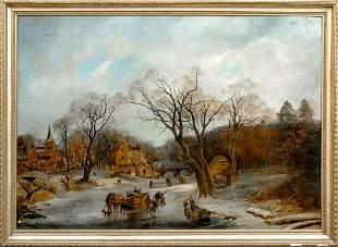 Frozen Winter Oil Painting