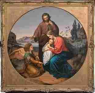 Mary, Christ & Joseph Oil Painting